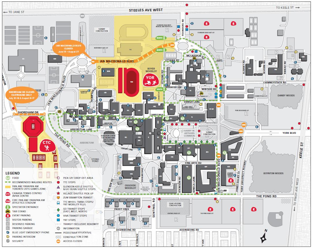 York U Games map